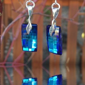 Jewelry - Handcrafted earrings with Swarovski crystal #54