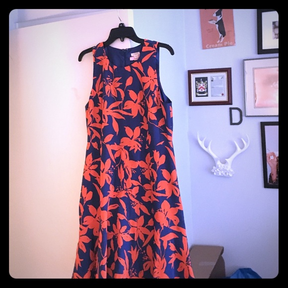 J. Crew Dresses & Skirts - Orange and blue jcrew floral dress