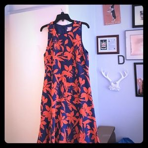 J. Crew Dresses - Orange and blue jcrew floral dress