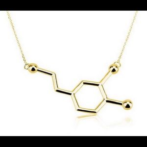 Jewelry - New Gold Plated Dopamine Molecule Necklace
