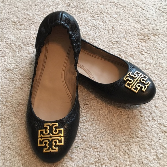 Tory burch Melinda black flats 6.5