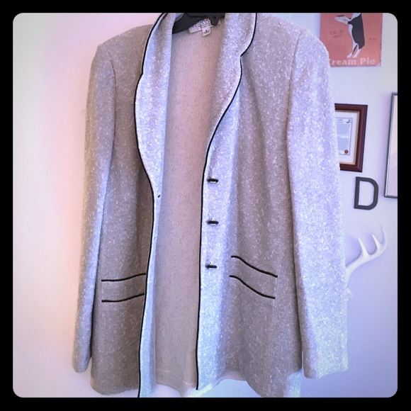 St. John Jackets & Blazers - St. John gray and black cardigan