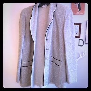 St. John Jackets & Coats - St. John gray and black cardigan