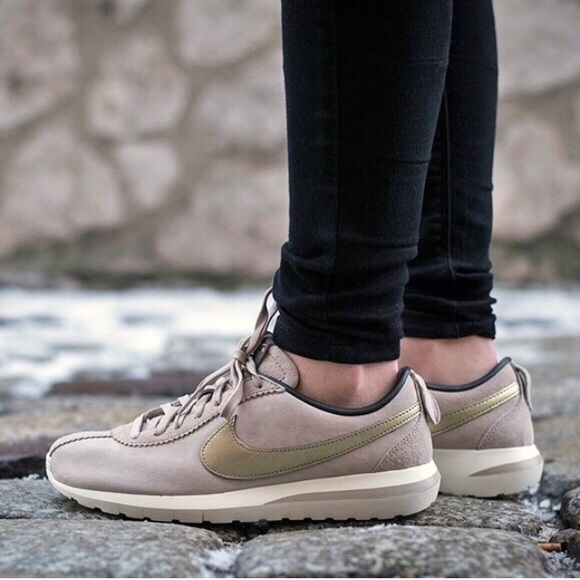 192ca6d729dd Nike Suede Gold Roshe Cortez Sneakers