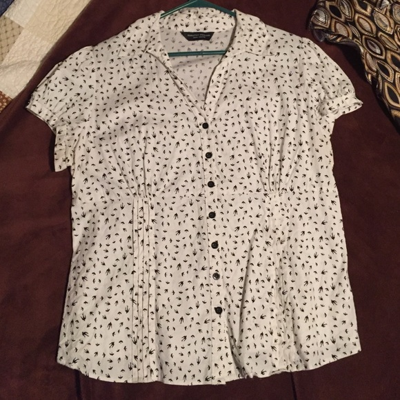 9cf572f96d35ae Dorothy Perkins Tops | Cotton Short Sleeve Printed Blouse Uk Size 20 ...