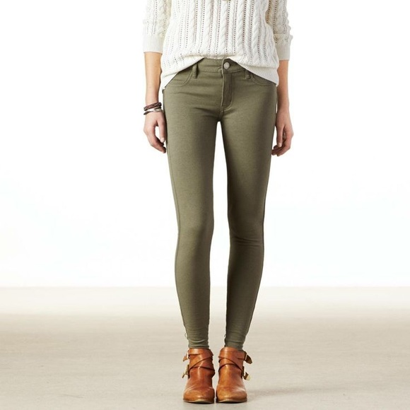 3d69ff69d497b American Eagle Outfitters Jeans | American Eagle Olive Super Stretch ...