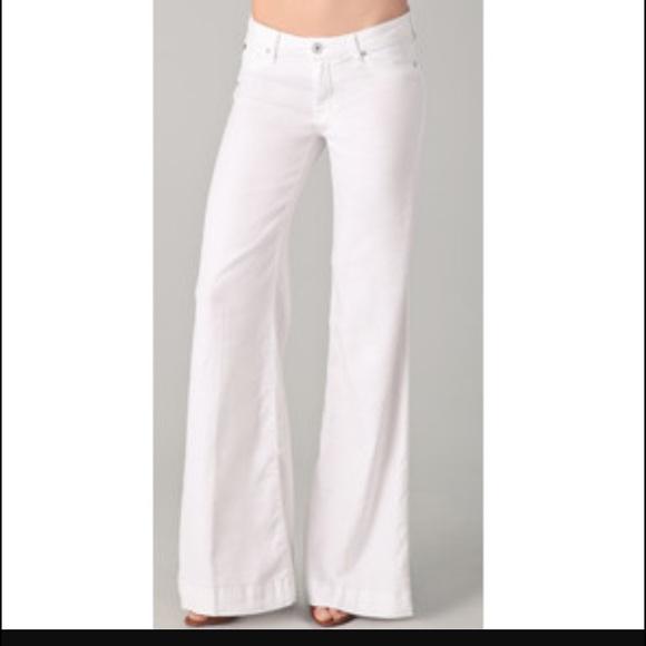 84babbad69c Hudson Jeans Jeans | Hudson Gwen Wide Leg Trouser White Sz 28 | Poshmark