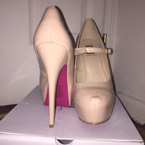 Nude Mary Janes