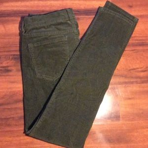 Old navy forest green corduroy pants