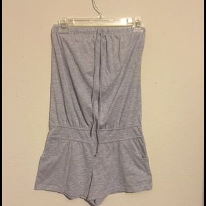 Planet Gold Other - Grey strapless onesie (shorts)