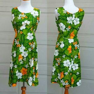 Vintage Royal Hawaiian Dress-70sHP@reallilswole