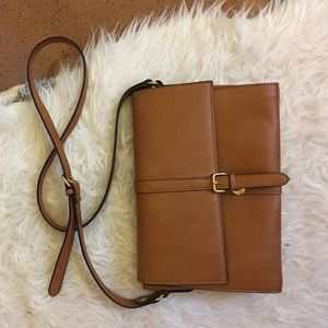 Brown flap bag
