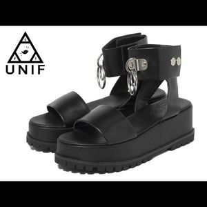 UNIF black vault sandals size 9. BRAND NEW!