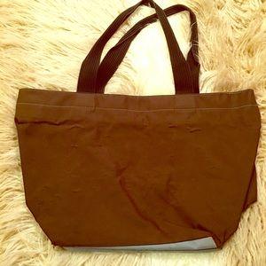 herve chapelier tote brown blue big bag