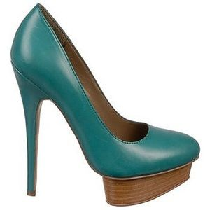 Fergie Olivia Teal Leather shoes