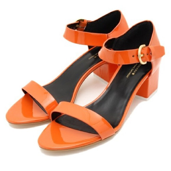 740bf4f5e05 Kate Spade Saturday Block Heel Orange Sandal