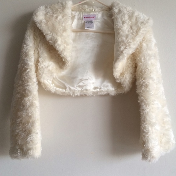 78% off Gimboree Other - American Girl white faux fur coat from ...