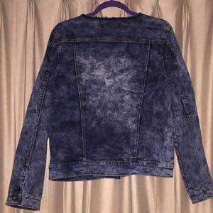 6cb327cf2bf Ashley Stewart Jackets   Coats - Ashley Stewart Collarless Denim Jacket
