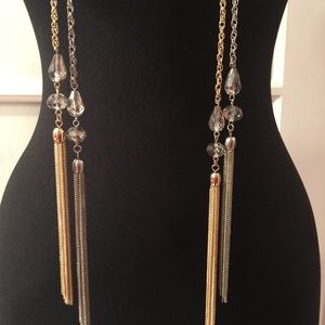 Jewelry - (2) Tassel Necklaces - In Gold & Silver