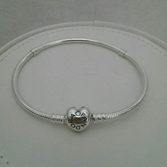 ac9d4d342 Pandora Jewelry | New Heart Clasp Sterling Silver Bracelet | Poshmark