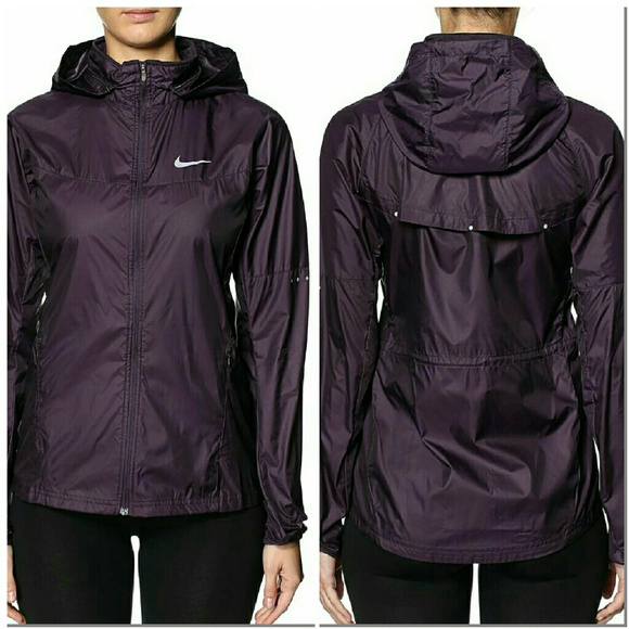 68% off Nike Jackets & Blazers - Nike Purple Running 3 Lightweight ...