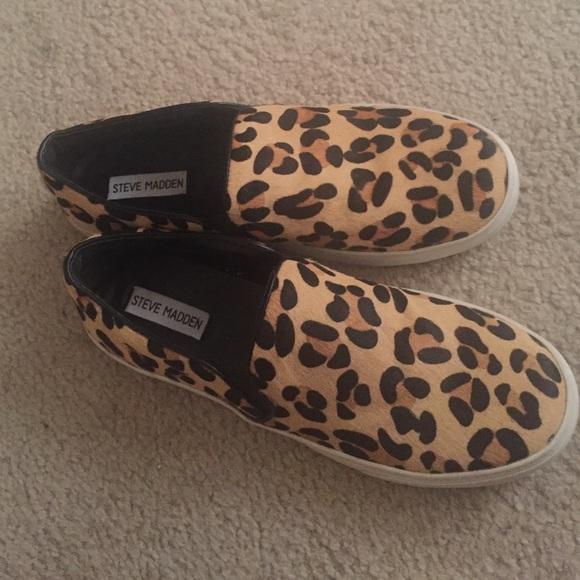 1cde0433911 Leopard Steve Madden Ecentrcq Slip Ons
