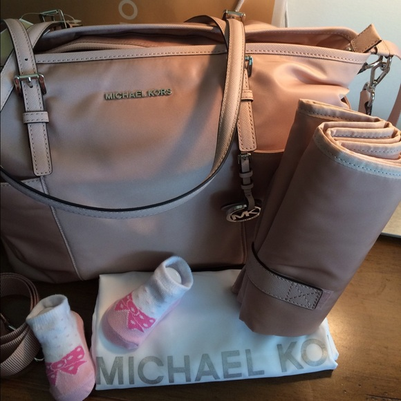 37 Off Michael Kors Handbags Diaper Baby Bag Jet Set