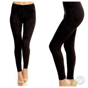 Pants - Suede Like Leggings