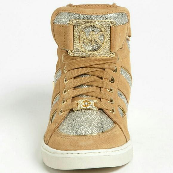 67 off michael michael kors shoes michael kors fulton high top sneaker from arielle 39 s closet. Black Bedroom Furniture Sets. Home Design Ideas