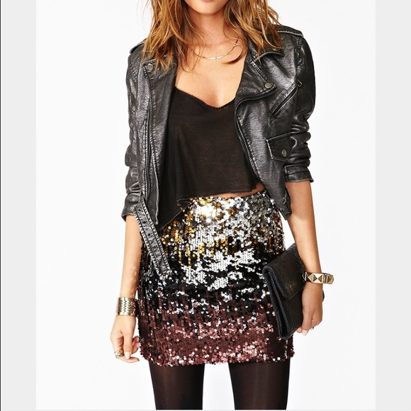 ac1608ba63 Dresses & Skirts - 🎉HP🎉Dripping In Sequins Skirt✨From NASTY GAL