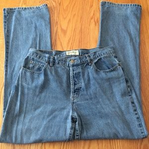 Eddie Bauer boot cut button fly jeans