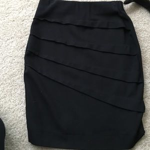 Zara basic black skirt