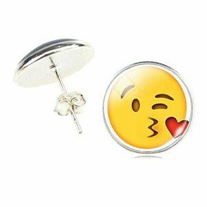 Jewelry - Funny Emoji kissy face earing studs