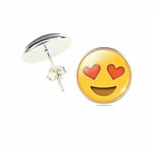 Jewelry - Funny Emoji in love face earing studs