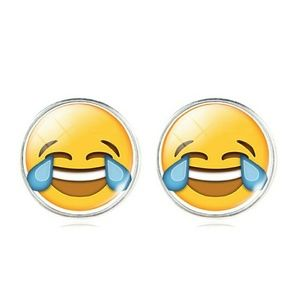 Jewelry - Funny Emoji laughing cry face