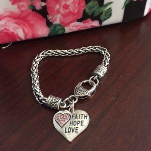 Faith hope love silver bracelet on poshmark for Faith hope love jewelry
