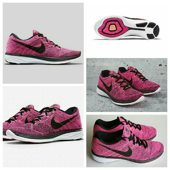 purchase cheap 5228e e37d6 ⬇PRICE DROP⬇Nike flyknit lunar 3 pink foil black NWT
