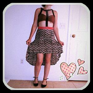 Lush Dresses & Skirts - 👗Unique Cage Top Flowy Midi Dress Fab!💙