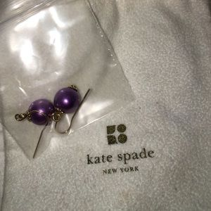 Kate Spade Purple Drop Earrings