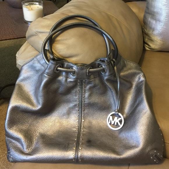 78a1e0dab Michael Kors Astor Studded Leather Ring Hobo Tote.  M_57000ce278b31c95ce007dba
