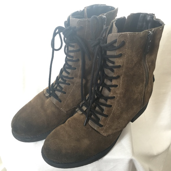a69d9203c4ef7 Sam Edelman Circus Lace Up Suede Military Boots 10.  M 57001154f739bcf813008700