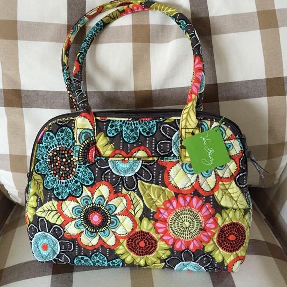 8091a0c974d8 Vera Bradley Zip-Around Flower Shower Handbag