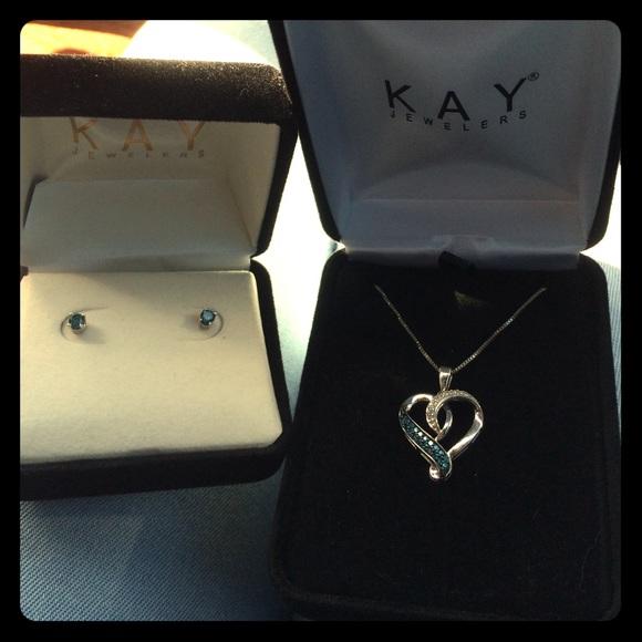 f8bae1a91 Kay Jewelers Jewelry   Blue Diamond Earrings   Poshmark