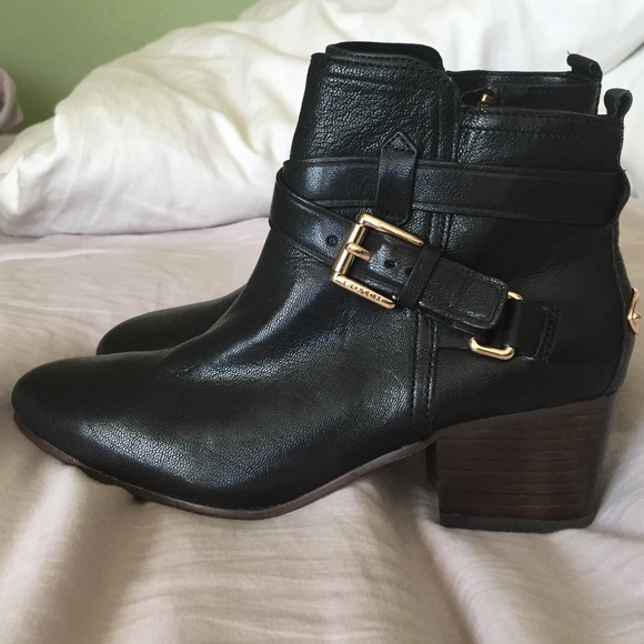 83% off Coach Shoes - Coach Pauline Booties Size 5 never been worn ...