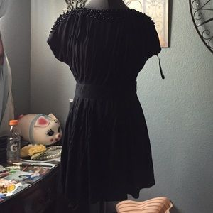 Dresses & Skirts - Black mini dress with beads