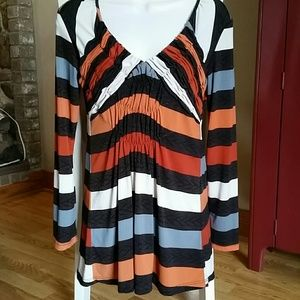 Sharon Max Tops - Multicolored Tunic with Long Sleeves