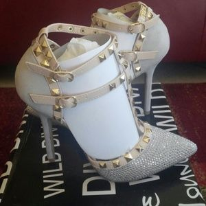 Studded Silver Caged Heel