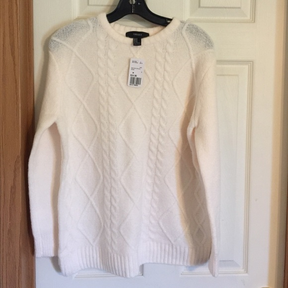 Forever 21 Sweaters Cable Knit Sweater Off White Sz Med Poshmark