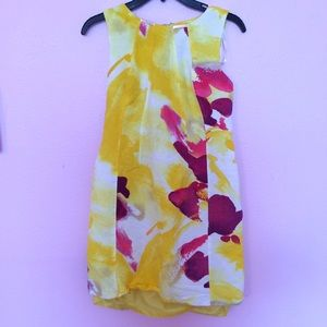 Calvin Klein yellow floral dress
