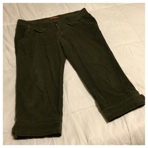 Unionbay Pants - Unionbay Green Corduroy Bermuda Shorts